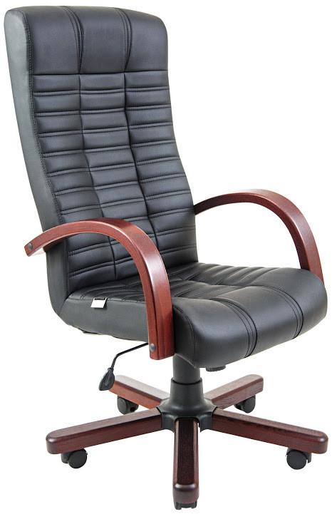 Кресло Атлант Вуд Вишня механизм Tilt кожзаменитель Флай-2230 (Richman ТМ)