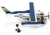 Конструктор SLUBAN M38-B0361 Авіація, літак, фігурки, 214 дет., кор., 28,5-24-5,5 см, фото 1