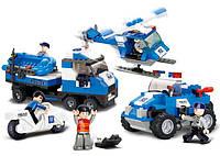 Конструктор SLUBAN M38-B0190 поліцейський спецназ, фігурки, 403 дет., кор., 42,5-28,5-6,5 см