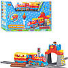 Конструктор JIXIN 8588B (M2263) залізниця, поїзд, муз., світло, бат., кор., 56,5-37-12 см
