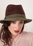 Шляпа из фетра мужского стиля цвет жемчужный - слива, фото 2
