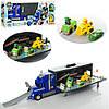 """Трейлер детский игрушечный """"Щенячий патруль"""" XZ-355, 54см, гараж-трек, машинки 3шт(две с фигурками)"""