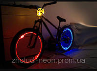 Подсветка колес велосипеда оптическим проводом II-го покл.