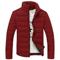 Зимняя бордовая дутая куртка