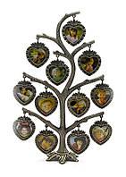 Настольная фоторамка Семейное дерево из металла