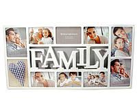 Семейная фоторамка на 10 фото
