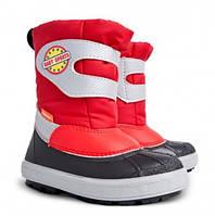 Детские зимние сапоги-дутики Demar (Демар) Baby Sports красные р.20--29 теплющие