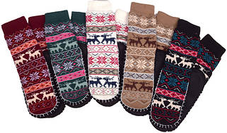 Носки тапочки женские LOOKeN (цельная подошва)