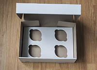 Коробка для капкейков на 4 ячейки