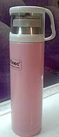 Термос вакуумный 0,35л розовый, фото 1