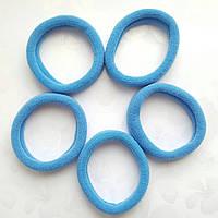 Резинка для волос (основа) бесшовная Голубая D4 см 10 шт/уп, фото 1