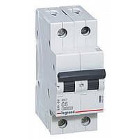 Автоматический выключатель 2 полюса 10A тип C 4,5кА Legrand серии RX³