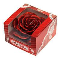 Свеча 'Роза' 2 цвета красный
