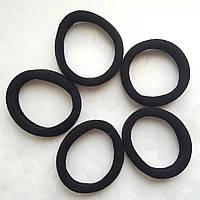 Резинка для волос (основа) бесшовная Черная D4 см 10 шт/уп, фото 1