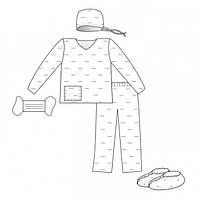 Комплект одежды для партнерских родов №2 (Славна)