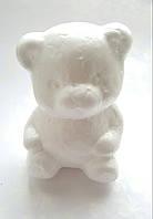 Мишка из пенопласта (заготовка) 9x6.5 см