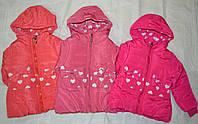 Зимняя куртка для девочки Сердечки