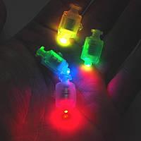 Светодиод с кнопкой разноцветный, подсветка воздушных шаров