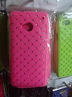 Чехол накладка для HTC One 801e со стразами