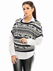Двійка: блуза і жилетка 3365