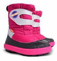 Детские зимние сапоги-дутики Demar (Демар) Baby Sports розовые р.20--29 теплющие