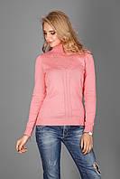 Тонкий свитерок из натуральной хлопковой пряжи форель