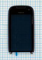 Тачскрин сенсорное стекло для Nokia Lumia 701 with frame black