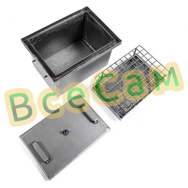 Коптильня с гидрозатвором горячего копчения 425*300*280 ммНет в наличии
