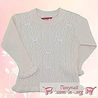 Вязанный свитер для девочек от 2 до 6 лет (4832-2)