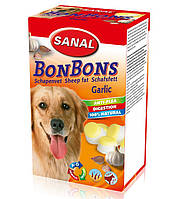 Лакомство – конфета для собак Sanal Dog BonBons Garlic «овечий жир с чесноком» 150 грамм