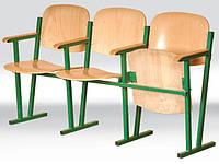 Кресло для актового зала ( 4 местное) (гнутая фанера)