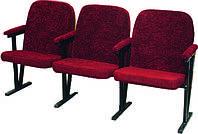 Кресло для актового зала мягкое ( 4 местное) (ткань)