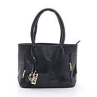 Классная женская сумка брелками. Удобная сумка на плече. Сумка под крокодилью кожу с молниями. Код: КБН134