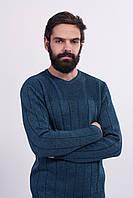 Джемпер мужской стуктурной вязки цвет джинс