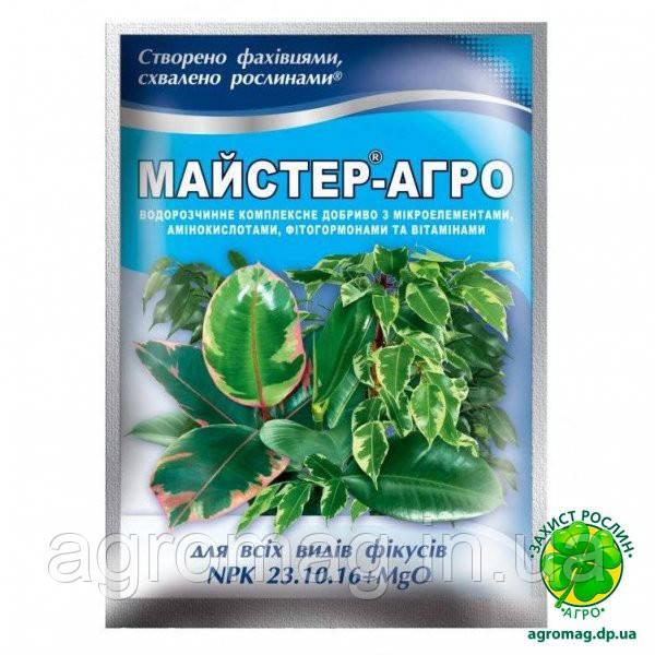 Мастер-Агро для фикусов (NPK 23.10.16+MgO) 25 г