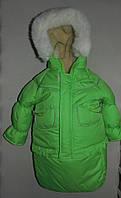 Детский зимний комбинезон Тройка-конверт 3 в 1 Зеленый