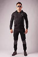 Спортивный костюм в стиле Philipp Plein (черный с черепом)
