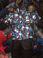 Зимний детский комбинезон (костюм) для мальчика Азбука