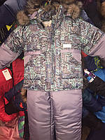 Зимний детский комбинезон (костюм) для мальчика Сливовый лабиринт