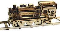 Набор для творчества 3D пазл. Конструктор деревянный.  Паровоз