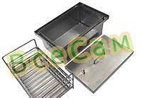 Коптильня з гідрозатворів гарячого копчення 375*250*250