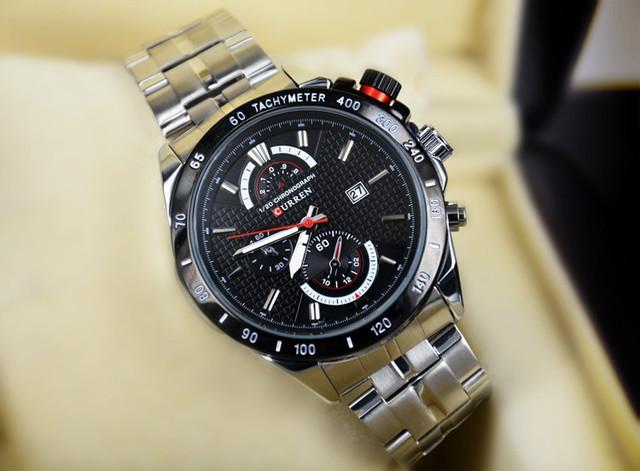 Кварцевые мужские часы Curren с хронометром Черный