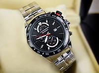 Кварцевые мужские часы Curren с хронометром Черный, фото 1
