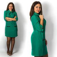 Зелёное платье 15571, большого размера