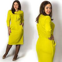Оливковое платье 152046, большого размера