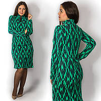 Зелёное платье 15586