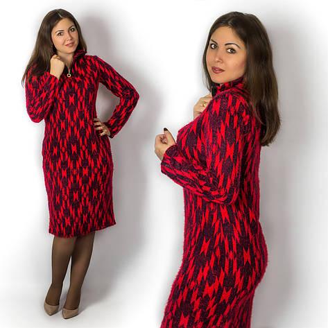 Красное платье 15586, фото 2