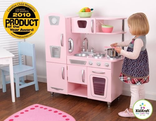 32e2baef81d3 Кухня детская из дерева «Винтаж», цвет Розовый (Pink Vintage Kitchen),  Kidkraft, цена 6 600 грн., купить в Киеве — Prom.ua (ID#402914044)