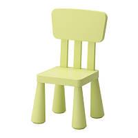 ИКЕА МАММУТ Детский стул, д/дома/улицы светло- зеленый, в наличии