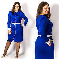 Платье 15573, электрик, большого размера
